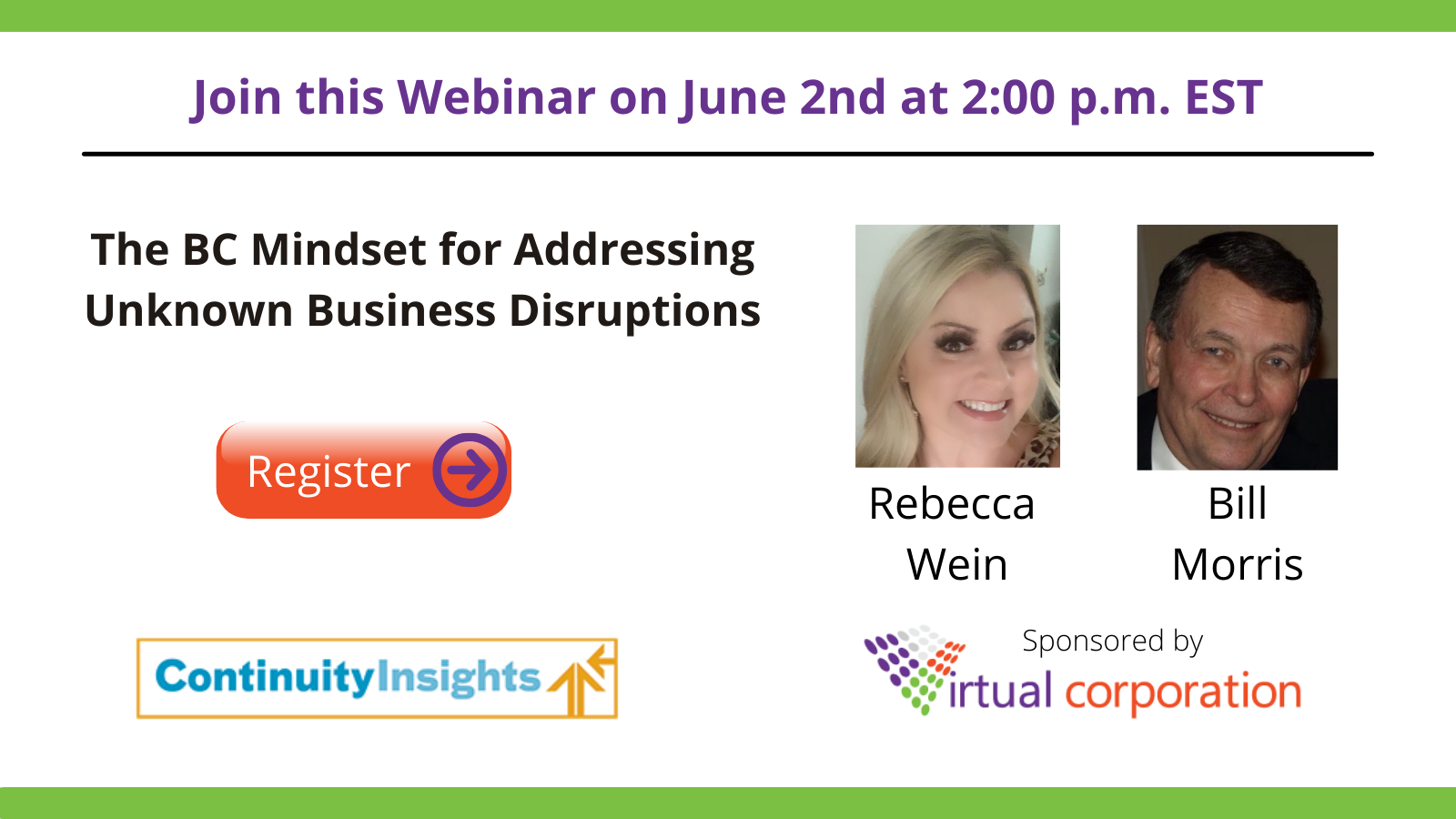Join this Webinar on June 2nd at 200 p.m. EST